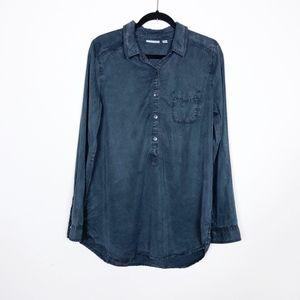 Halogen Button Down Shirt Tunic Dress Size Large